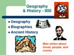 geography history 900