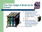 you can judge a book by its cover
