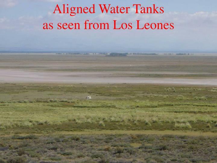 Aligned Water Tanks