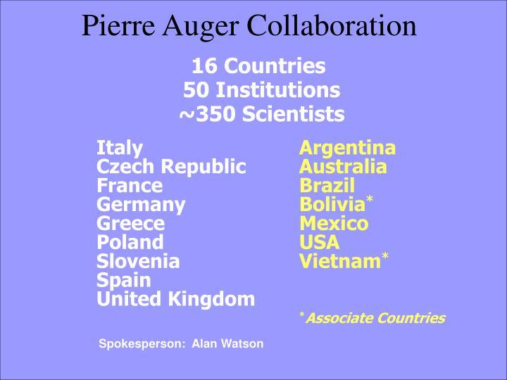 Pierre auger collaboration