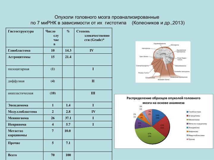 Опухоли головного мозга проанализированные
