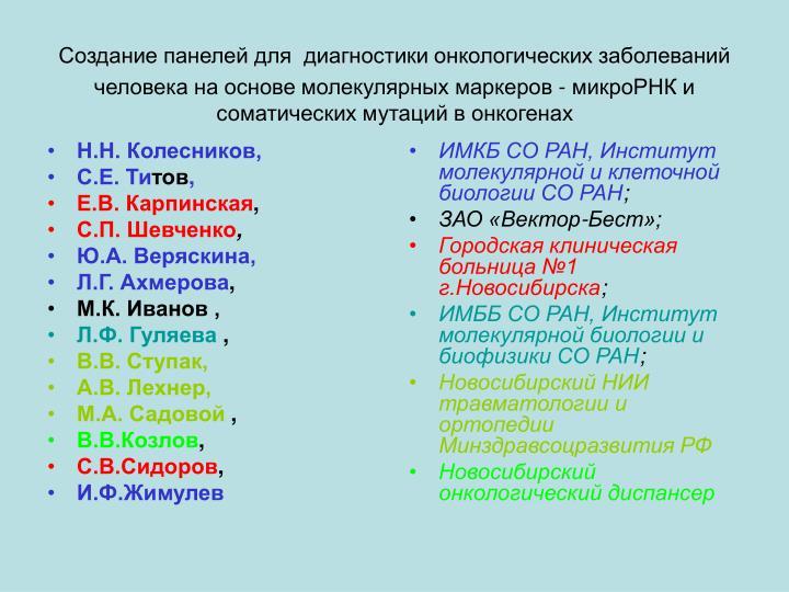 Н.Н. Колесников,