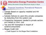 financial incentives promotional measures