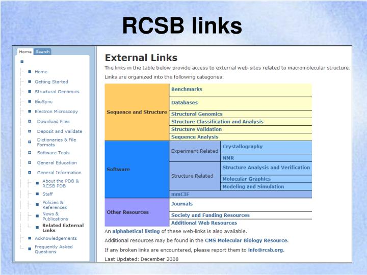RCSB links