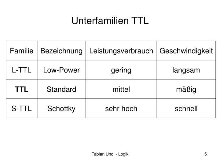 Unterfamilien TTL