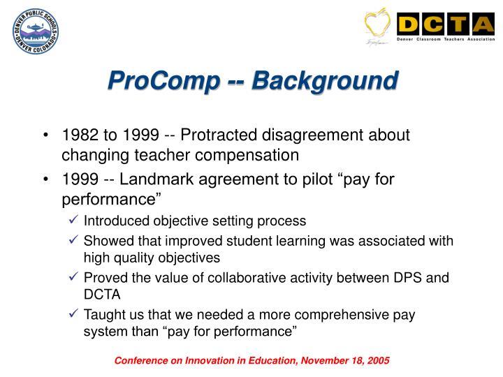 ProComp -- Background