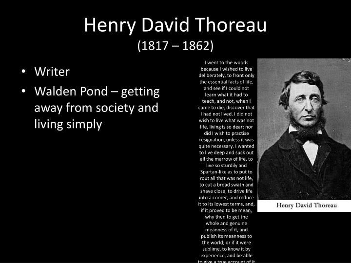 Henry david thoreau 1817 1862