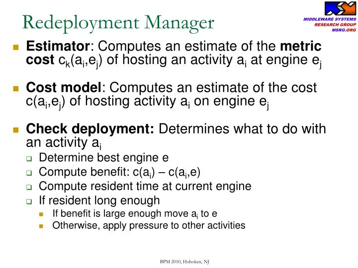 Redeployment Manager
