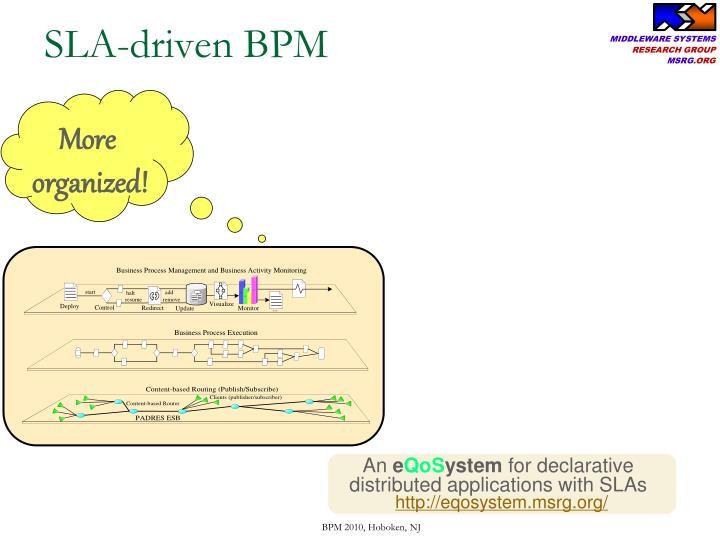 SLA-driven BPM