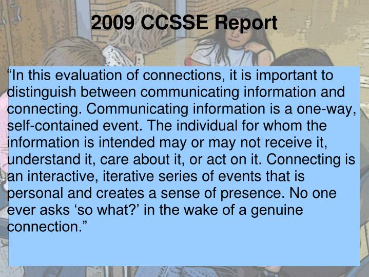 2009 CCSSE Report
