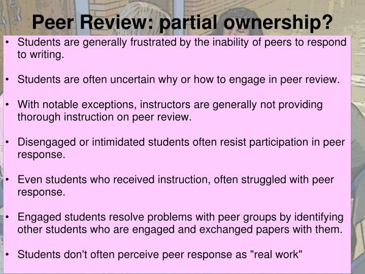 Peer Review: partial ownership?