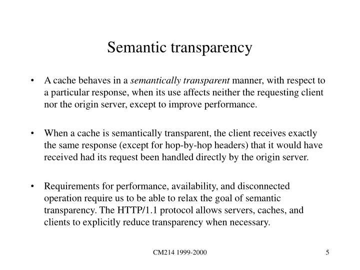 Semantic transparency