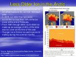 less older ice in the arctic