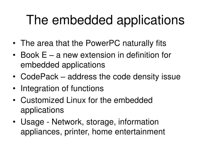The embedded applications