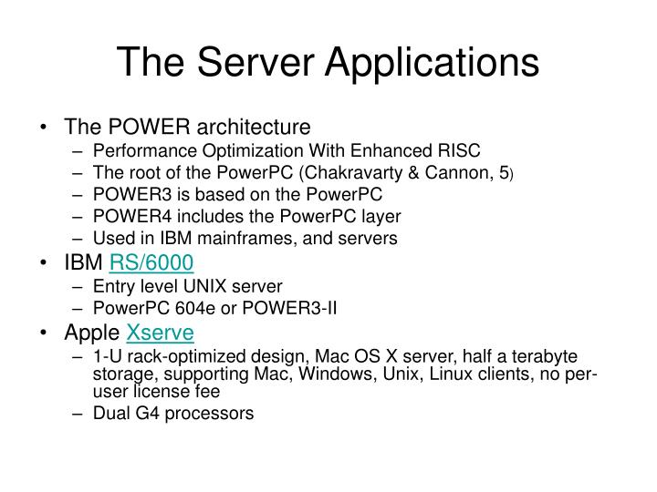 The Server Applications