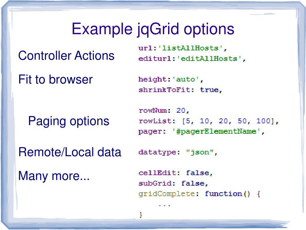Jqgrid Sorting Example
