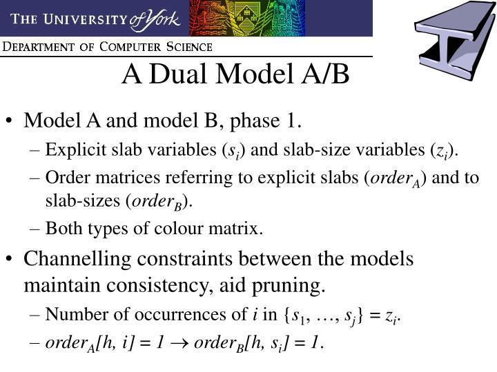 A Dual Model A/B