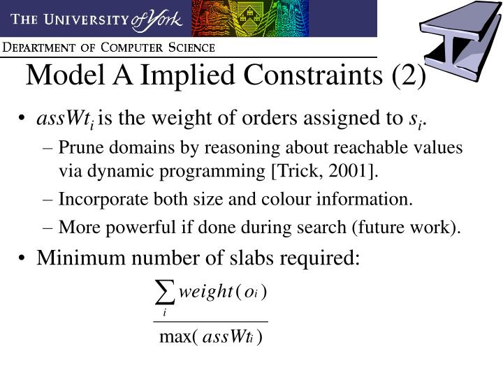 Model A Implied Constraints (2)