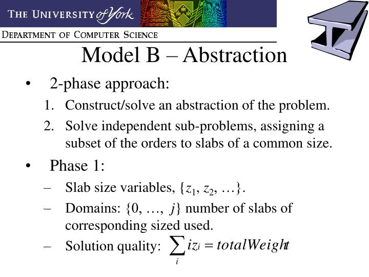 Model B – Abstraction
