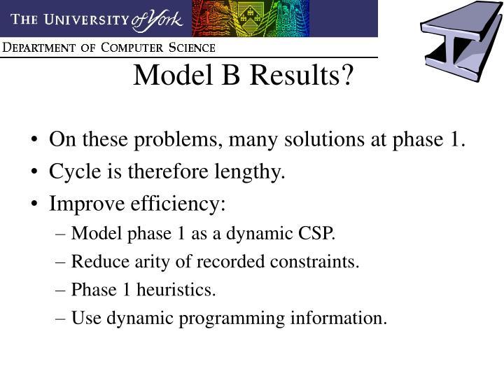 Model B Results?