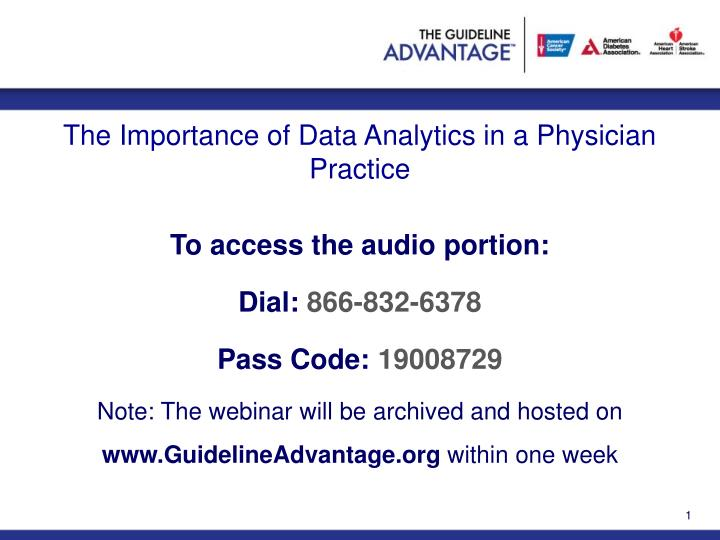 the importance of data analytics in a physician practice n.