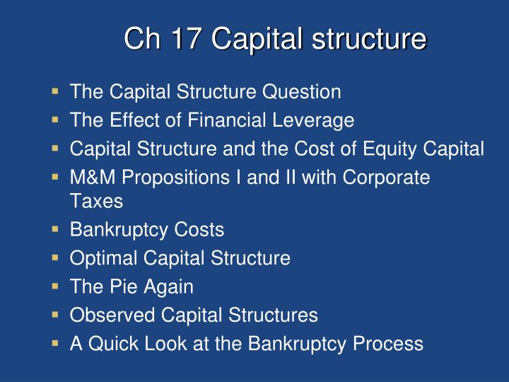 Ch 17 Capital structure
