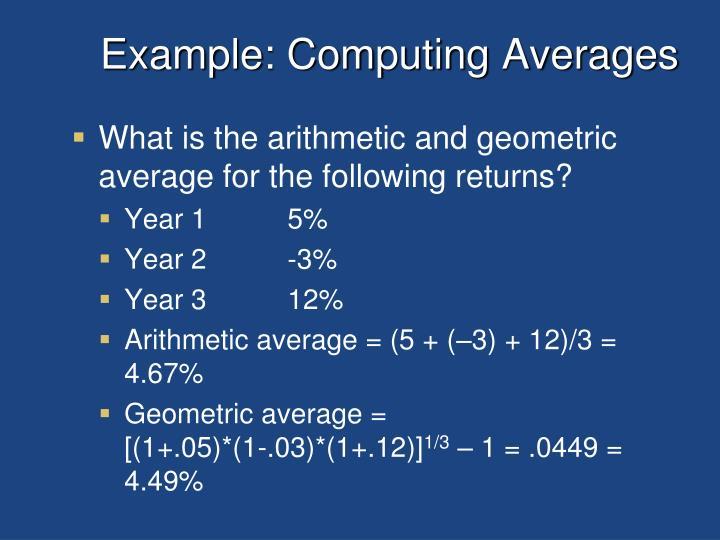 Example: Computing Averages