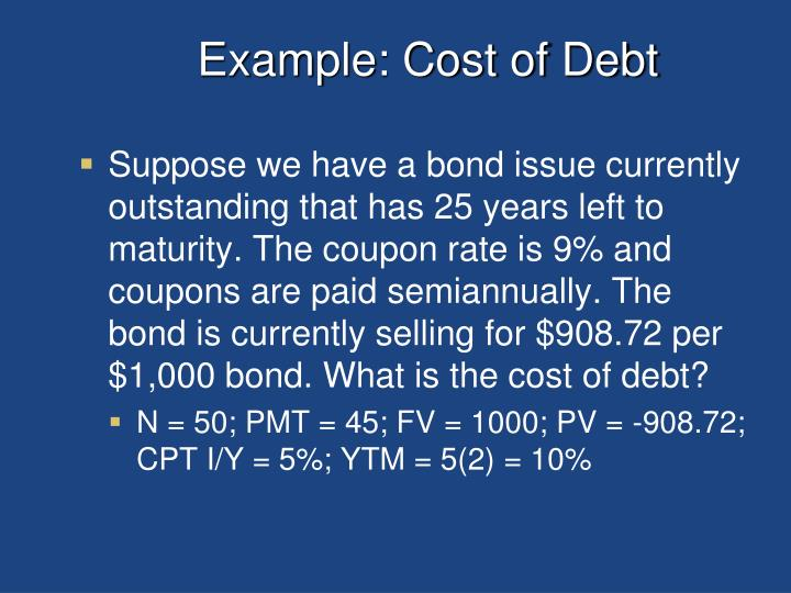 Example: Cost of Debt