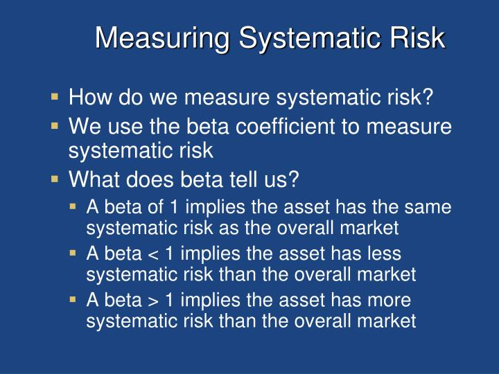 Measuring Systematic Risk