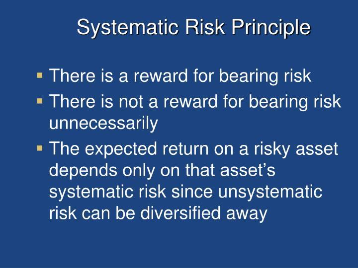 Systematic Risk Principle