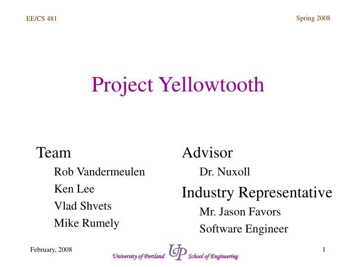 Project yellowtooth