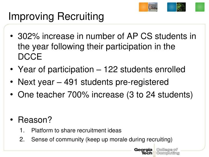 Improving Recruiting