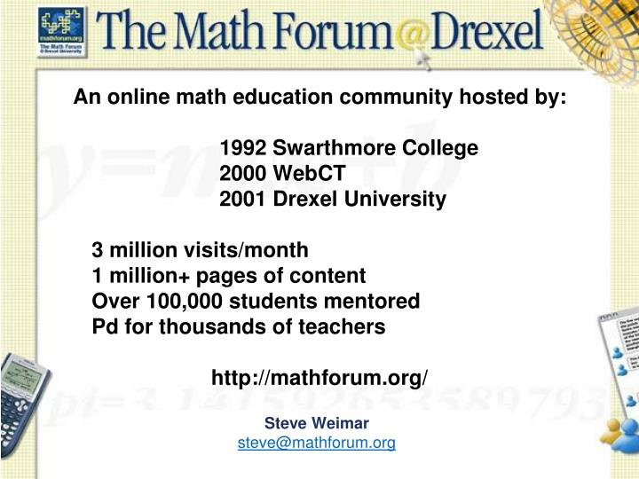 An online math education community hosted by: