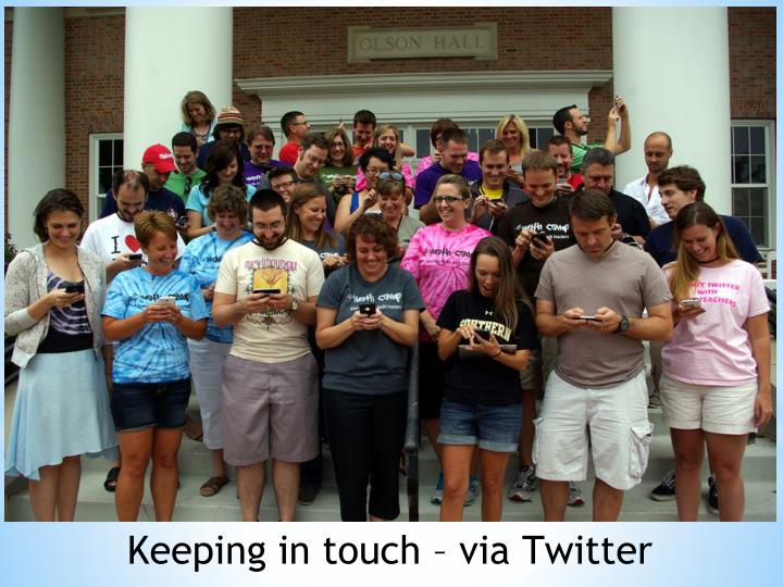 Keeping in touch – via Twitter