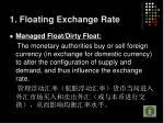 1 floating exchange rate1
