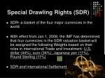 special drawling rights sdr