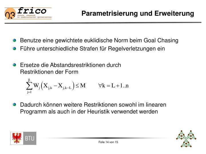 Parametrisierung und Erweiterung