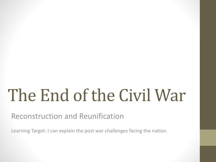 facing the effects of the civil war Robin wright talks to five historians specializing in the american civil war about whether the us is headed for a  is america headed for a new kind of civil war.