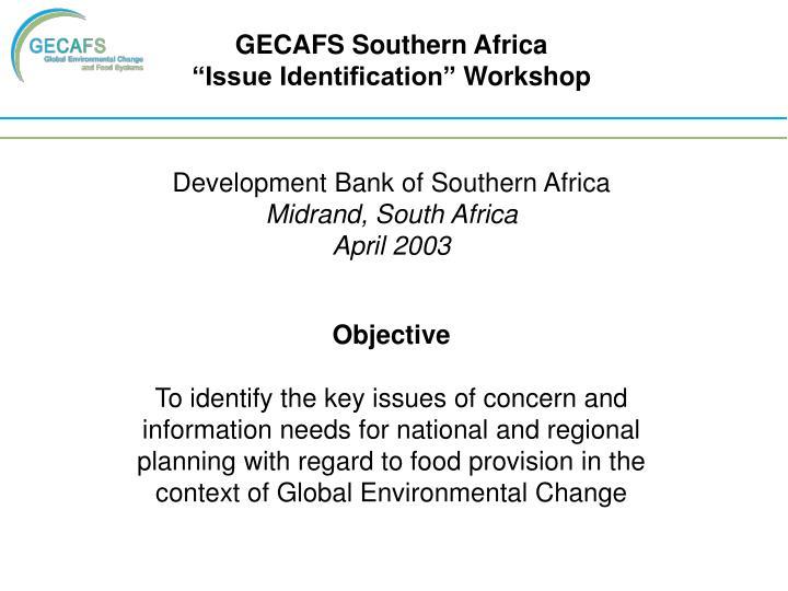 GECAFS Southern Africa