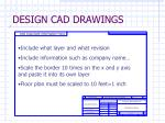 design cad drawings