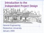 introduction to the independent project design