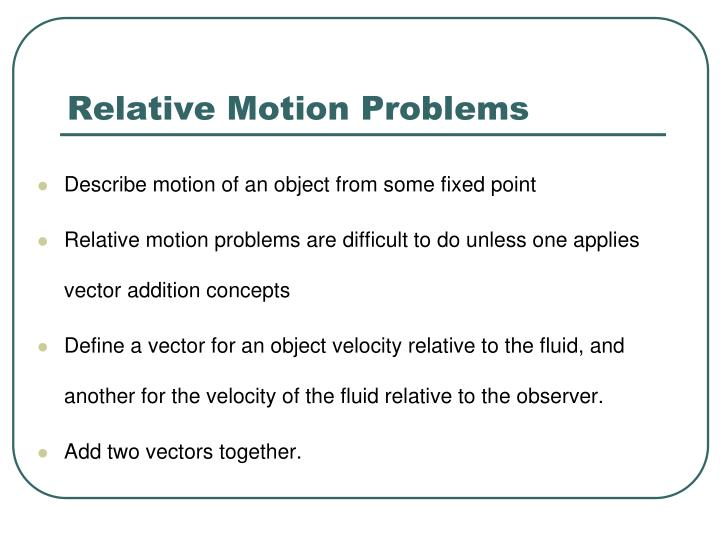 Relative Motion Problems