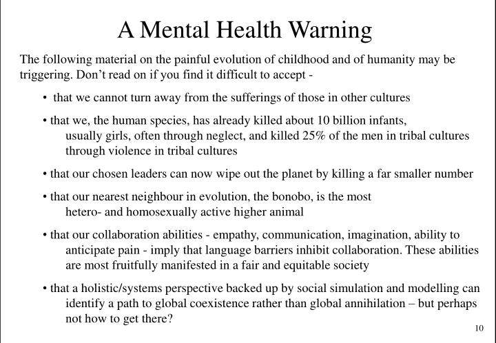 A Mental Health Warning