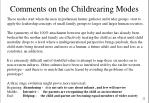 comments on the childrearing modes
