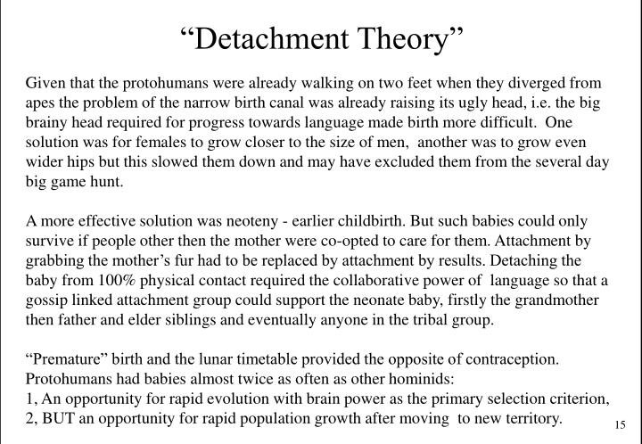 """Detachment Theory"""