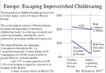 europe escaping impoverished childrearing