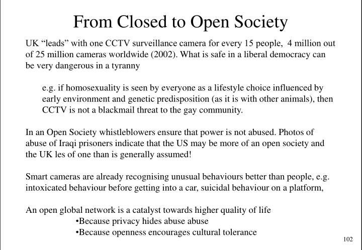 From Closed to Open Society