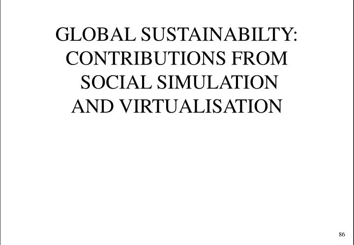 GLOBAL SUSTAINABILTY: CONTRIBUTIONS FROM