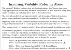 increasing visibility reducing abuse