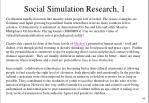 social simulation research 1